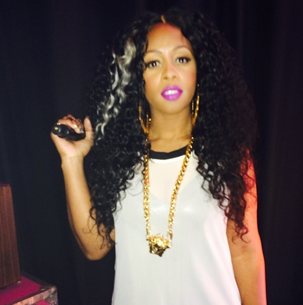 She's Around: Rapper Remy Ma Visits BET's 106 & Park